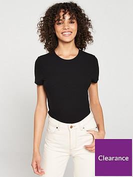 v-by-very-the-essential-ribbed-short-sleeve-top-black