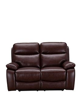 Very Hasting Real Leather/Faux Leather 2 Seater Manual Recliner Sofa Picture