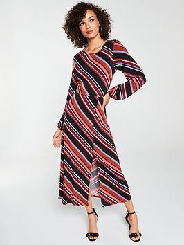 v-by-very-midaxi-split-front-dress-stripe