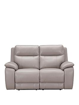 Very Colby Real Leather/Faux Leather 2 Seater Power Recliner Sofa Picture