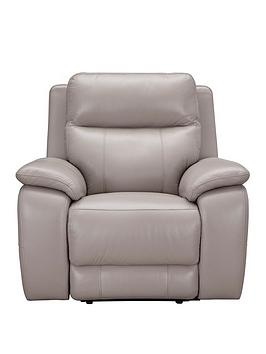 Very  Colby Real Leather/Faux Leather Power Recliner Armchair