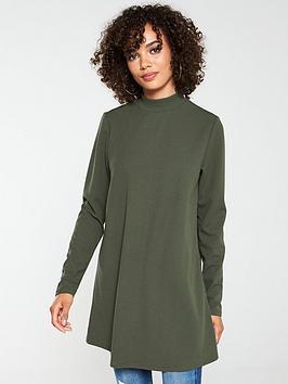 v-by-very-long-sleeve-tunic-khaki