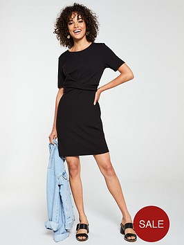 v-by-very-cross-front-dress-black