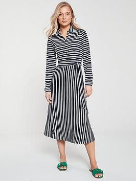 v-by-very-button-front-nautical-shirt-dress-stripe