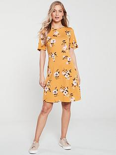 v-by-very-jersey-skater-dress-mustard-floral