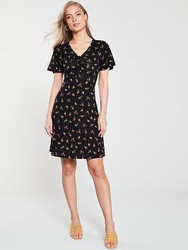 v-by-very-tie-front-jersey-skater-dress-black-floral