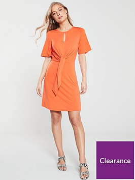 v-by-very-knot-waist-jersey-dress-orange