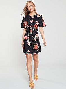 v-by-very-knot-waist-jersey-dress-blackfloral