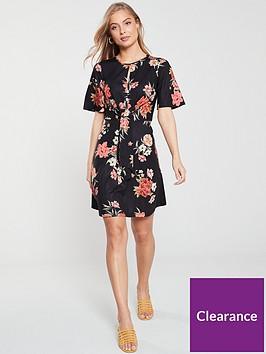 v-by-very-knot-waist-jersey-dress-blackfloral
