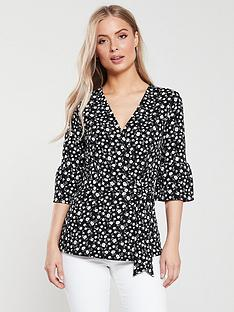 v-by-very-wrap-frill-sleeve-top-floral