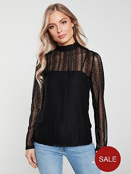 v-by-very-sheer-lace-high-neck-top-black