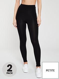 v-by-very-petite-the-essential-petite-2-pack-high-waist-leggings-black