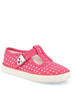 start-rite-jitterbug-polka-dot-canvas-plimsoll