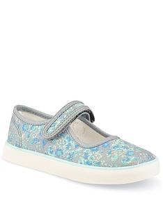 start-rite-hula-floral-canvas-plimsoll