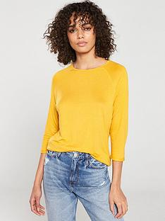 v-by-very-the-three-quarter-sleeved-raglan-tee-mustard