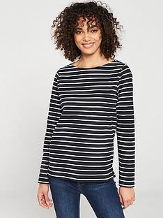 v-by-very-stripe-cotton-long-sleeve-top-black-white