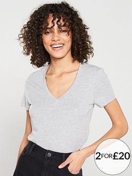 v-by-very-the-essential-v-neck-top-grey