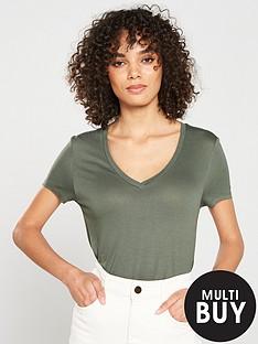v-by-very-v-necknbspcasual-t-shirt-khaki