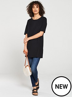 v-by-very-the-essential-three-quarter-sleeve-longline-top-black