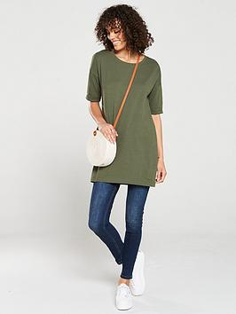 V by Very V By Very The Essential Three Quarter Sleeve Tunic - Khaki Picture