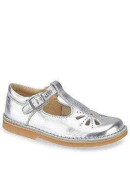 Start-Rite Start-Rite Girls Lottie T-Bar Shoes - Silver Picture