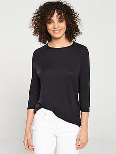 v-by-very-the-three-quarter-sleeved-raglan-tee-black