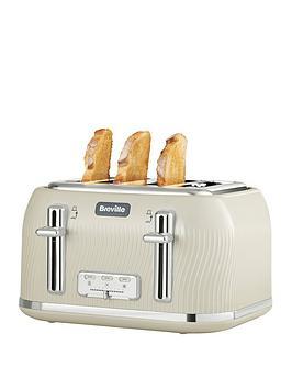 Breville    Flow 4 Slice Toaster Mushroom Cream