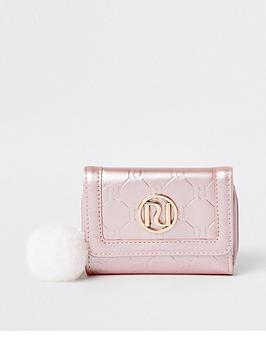river-island-girls-ri-monogram-trifold-purse-pink