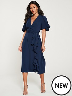 v-by-very-vienna-wrap-frill-midi-dress-navy