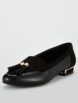 V by Very V By Very Maraba Wide Fit Tassel Loafer - Black Picture