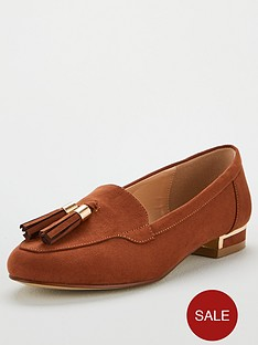 v-by-very-maraba-wide-fit-tassel-loafers-tan