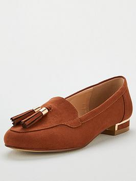 V by Very V By Very Maraba Wide Fit Tassel Loafers - Tan Picture
