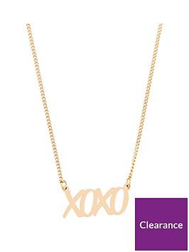 v-by-very-xoxo-slogan-necklace