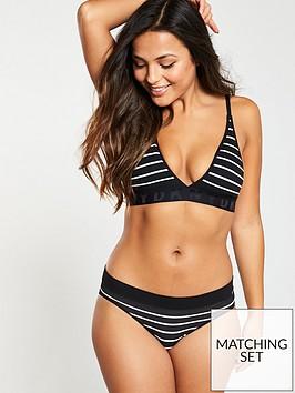 581208610076 DKNY Seamless Litewear Solid Bikini Briefs - Black/White | littlewoods.com