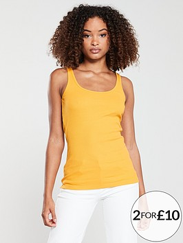 v-by-very-the-essential-tall-rib-vest-top-mustard