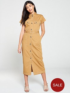 v-by-very-midi-utility-dress-camel