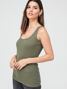 v-by-very-valuenbspthe-essential-tall-rib-vest-khaki