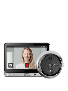 ezviz-hd-wifi-smart-door-viewer-camera-with-pir-works-with-alexa-amp-google-assistant-silver