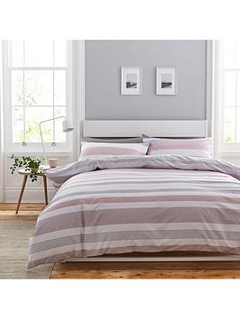 Catherine Lansfield Catherine Lansfield Newquay Stripe Duvet Cover Set Picture