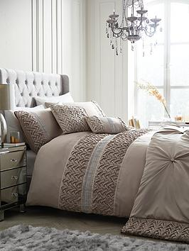 Very Mia Duvet Cover Set - Champagne Picture