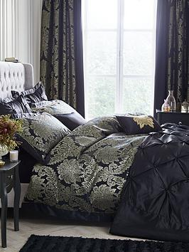 Very Boston Glamour Duvet Cover Set - Black And Gold Picture