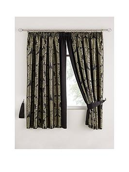 Very Boston Glamour Lined Pleated Curtains Picture