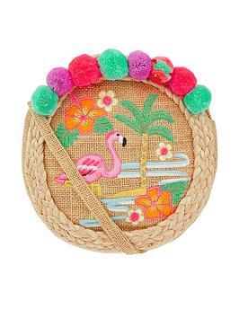 monsoon-rio-tropical-straw-round-bag