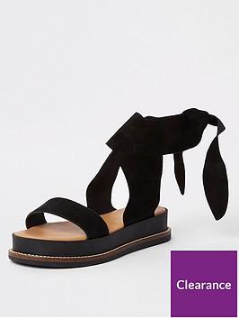 river-island-river-island-suede-tie-flat-sandal-black
