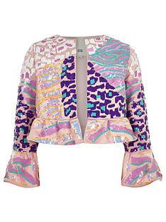 river-island-girls-sequin-flare-jacket-pink