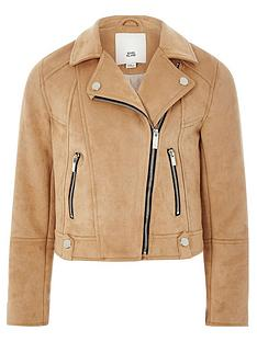 river-island-girls-faux-suede-biker-jacket-brown
