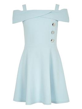 river-island-girls-scuba-bardot-dress-blue
