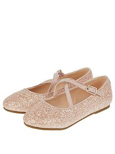 27bc097be Monsoon Monsoon Clemmie Glitter Cross Strap Ballerina