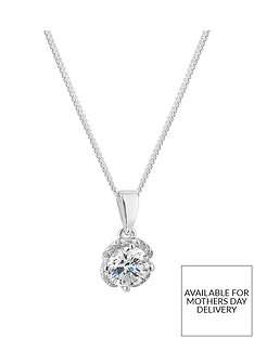 jon-richard-simply-silver-cubic-zirconia-solitaire-flower-pendant-in-gift-box