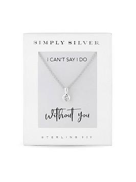 simply-silver-simply-silver-cubic-zirconia-besel-set-round-pendant-in-gift-box